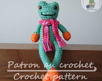 Patron  au crochet Raynette la grenouille - en français et en anglais