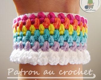 Patron au crochet Bracelet arc-en-ciel Ca va bien aller  - en français seulement