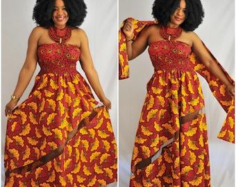 Gala Party Dress Evening Dress Dingli Ankara Maxi Dress African Print Long Dress Kitenge maxi dress Tribal Dress Dutch wax print