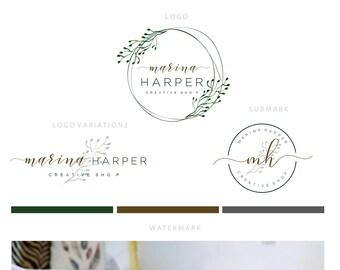 Branding kit logo design Skin care logo Natural logo | Etsy
