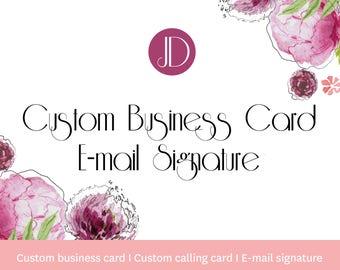 Custom business card - Custom calling card design - E-mail signature card - Letterhead