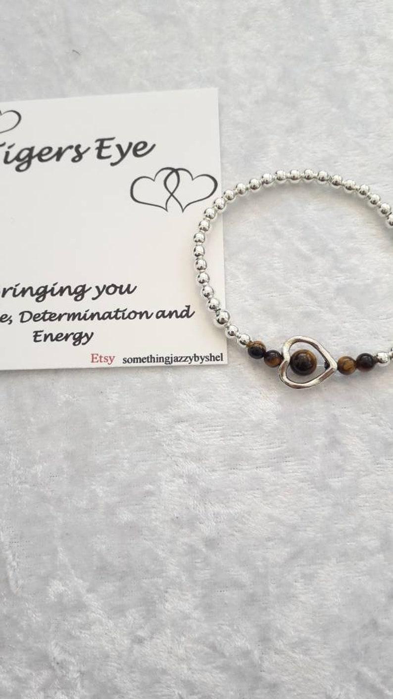 healing stone bracelet Tigers eye bracelet gem stone bracelet