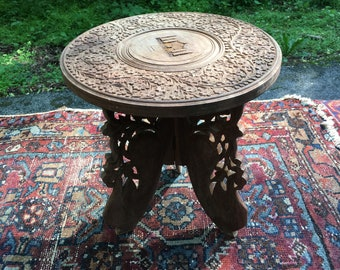 Small Carved Stool