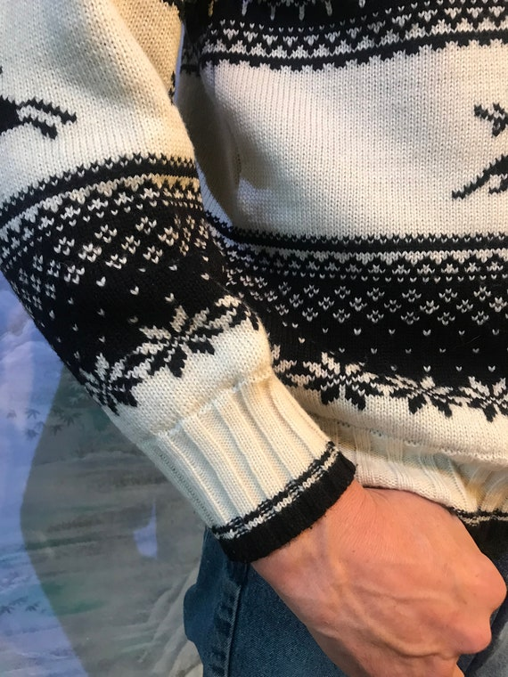 Cerf imprimé pull pull norvégien nordique pull en maille pull homme pull pull épais Bunad pull maille hiver pull grande taille 0d7032