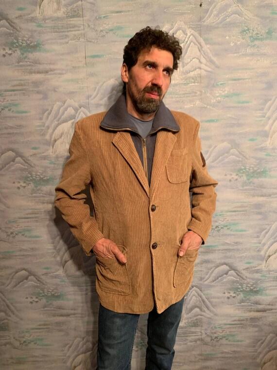 Brown Corduroy Sport Coat Beige Micro Corduroy Bla