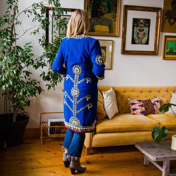Incredible Vintage Afghan Coat, Vintage Ethnic Woo