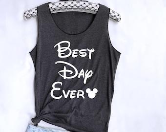 7d02e674668918 Best day ever Mickey tank top. Disney tank. Disney tshirt. Tee Tops. Disney  tank. Disney family shirts. Disney shirt. Mickey mouse shirt