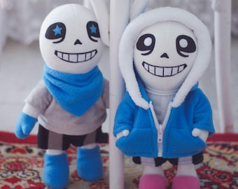 Blueberry Sans AU Underswap Soft Toy Plushie Stuffed Handmade Toy Undertale