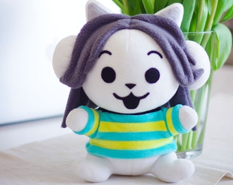 Temmie Plush Toy Tem Shop Undertale Stuffed Toy Seated Kitty Cat Monster Soft Toy Plushie