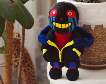 Error Sans AU Errortale   Handmade Stuffed Decorative Doll    Undertale Collectible   Made To Order