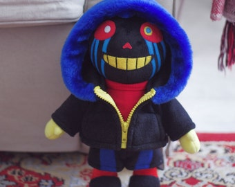 Error Sans AU Errortale Soft Toy Plushie Handmade Stuffed Toy Undertale