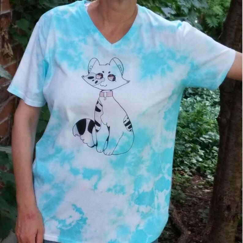 98c4dc080 Tie Dye Cat Shirt Cat Lover Gift Best Friend Gift Gift for | Etsy