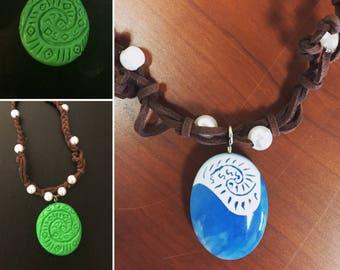 Princess Moana Necklace, Moana party favors, Moana Costume, Moana Cosplay,  Moana accessories, heart of te fiti, Vaiana necklace