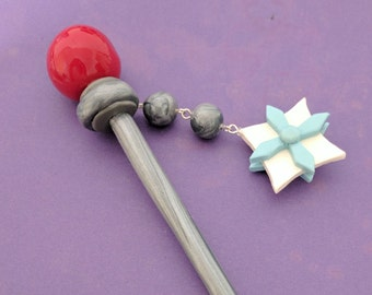 Overwatch Mei Handmade Hair Pin - Great for Cosplay, Costume, Halloween!