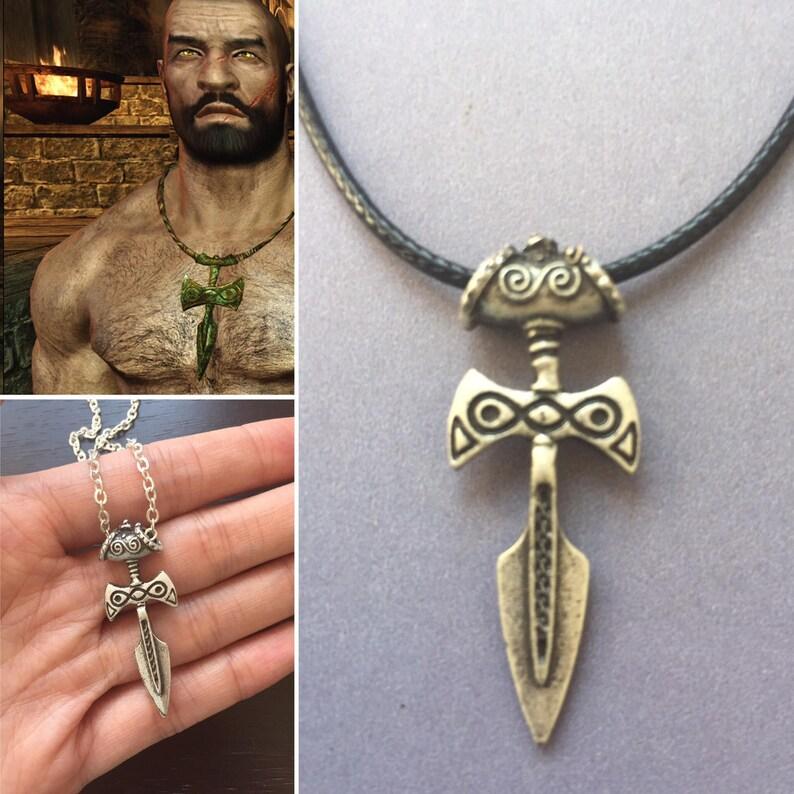 Silver Amulet of Talos, Talos Necklace, Skyrim inspired Necklace, Elder  Scrolls Necklace, Skyrim Amulet Necklace, Elder Scrolls Amulet