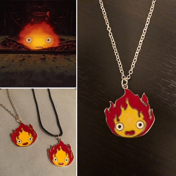Howl/'s Moving Castle Howl Blue Necklace Pendant Amulet Earring Ring Cosplay Prop
