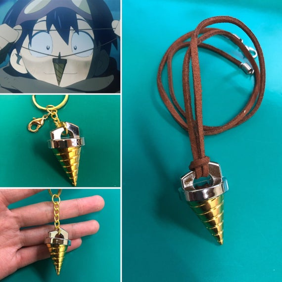 Japanese Anime Tengen Toppa Gurren Lagann Simon Core Drill Metal Cosplay Pendant