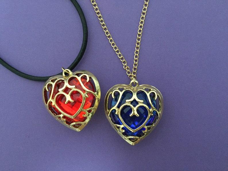 Zelda Legend of Zelda heart container necklace zelda key image 0