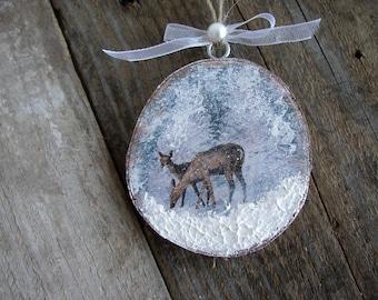 Christmas Ornaments, Nature Ornaments, Deer Ornament, Holiday Home Decor, ChristmasTree Decor, Christmas Tree Ornaments, Winter Home Decor