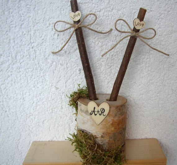 Personalized Birch Holder Woodland Wedding Rustic Wedding Pen Holder Fall Wooden Wedding Decoration Rustic Wood Pens Guest Book Signing