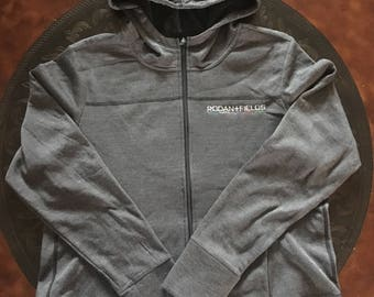 Rodan and Fields personalized Hooded zip up semi fitted jacket
