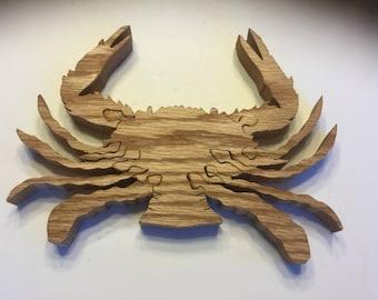 Wooden Blue crab