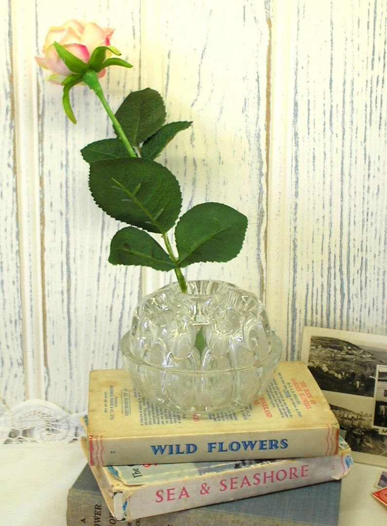 British Davidson Antique Cloud Glass Vase Complete With Frog We Take Customers As Our Gods
