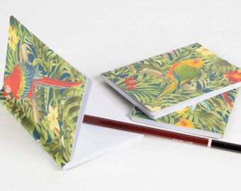 Tropical Paradise Parrot Print Pocket Notebook