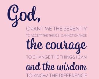 God, Grant me the serenity