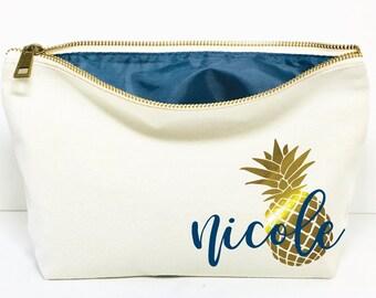 75a1c8e71e95 Tropical makeup bag | Etsy