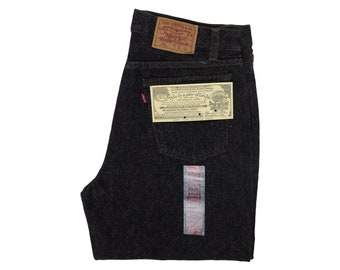 e58addfa9cd Vintage Levis 701 Jeans Student Fit Deadstock Black Denim 501 XX USA Made