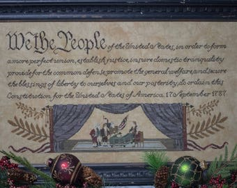 We The People Cross Stitch Pattern - PDF Digital Download