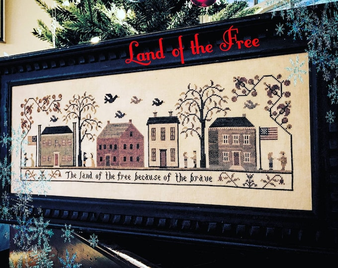 Land of the Free Cross Stitch Pattern - Hard Copy