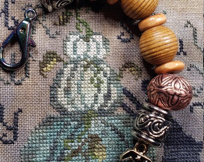 Scissor Fob - Cross Stitch Embroidery - Halloween Theme