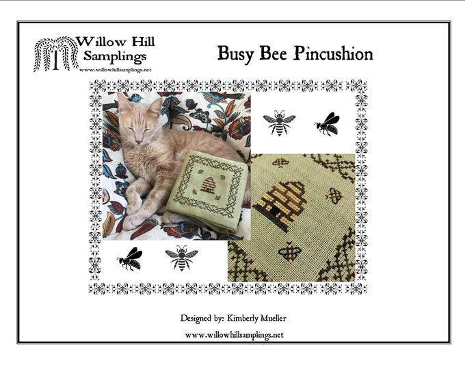 Busy Bee Pincushion Patter  - Hard Copy