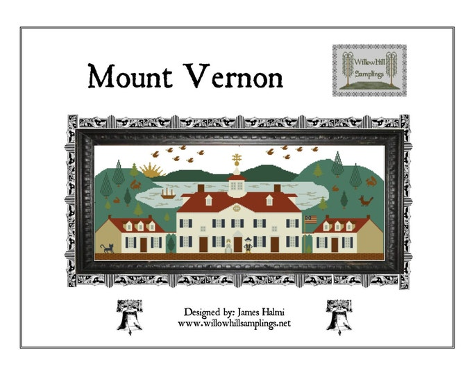 Mount Vernon Cross Stitch Pattern - PDF Digital Download