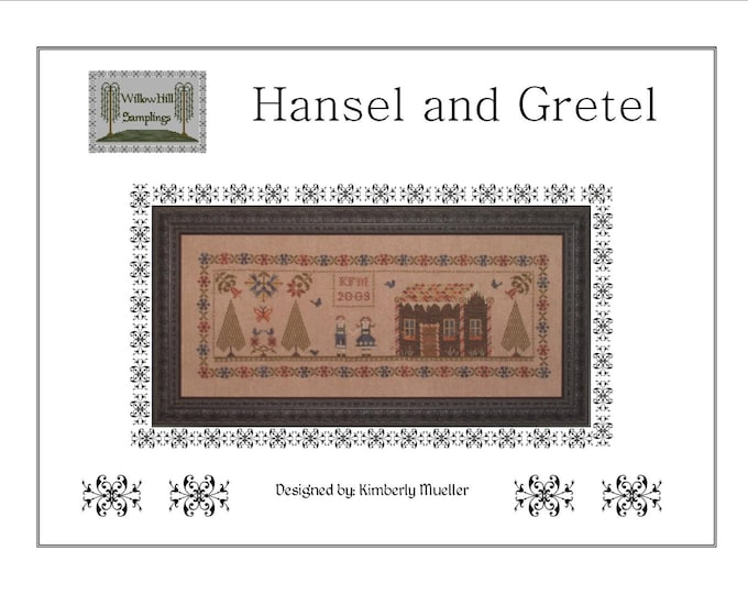 Hansel and Gretyl Cross Stitch Pattern - PDF Digital Download