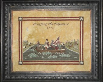 Crossing the Delaware cross stitch pattern (Hard-copy)
