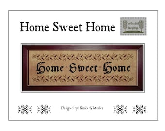 Home Sweet Home Cross Stitch Pattern - Hard Copy