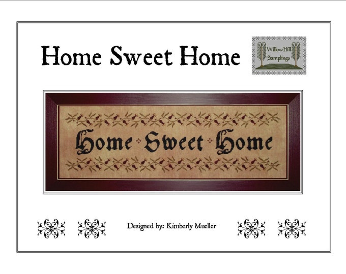 Home Sweet Home Cross Stitch Pattern - PDF Digital Download