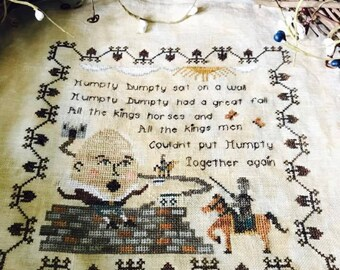 Nursery Rhymes - Humpty Dumpty Cross Stitch Pattern (Hard-Copy)