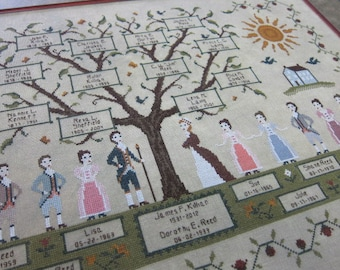My Family Tree Cross Stitch Pattern - PDF Digital Download