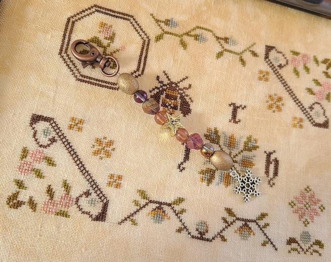 Scissor Fob - Cross Stitch Embroidery