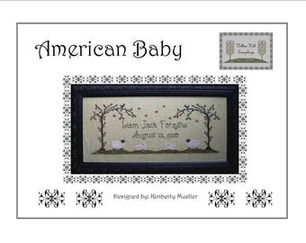 American Baby Cross Stitch Pattern (Hard Copy)