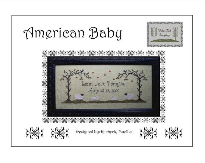 American Baby Cross Stitch Pattern - Hard Copy