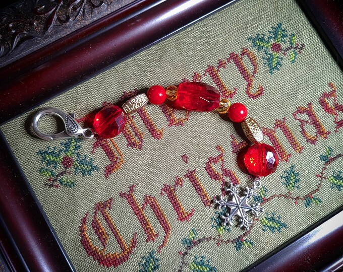 Scissor Fob - Christmas themed scissor fob