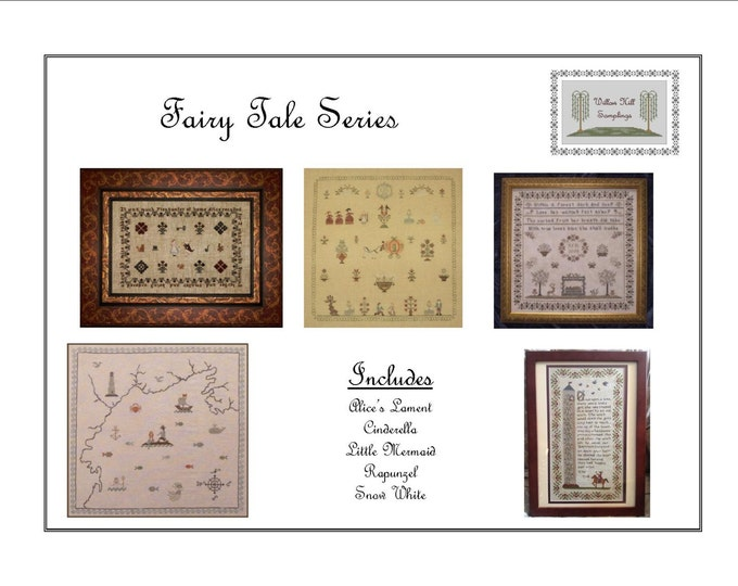 Fairy Tale Series Five (5) Cross Stitch Patterns - Hard Copy
