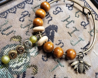 Beaded bracelet about.  Requires relatively small wrist