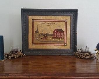 Paul Revere's Ride Cross Stitch Pattern