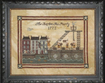 Boston Tea Party cross stitch pattern hard-copy